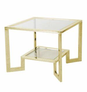 Stoliczek stolik kawowy nowoczesny metalowy Yara Złoty 50/65/65 cm