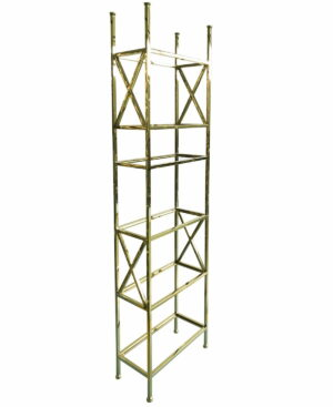 Regał metalowy chromowany w kolorze złota Park Avenue 30/65/230 cm