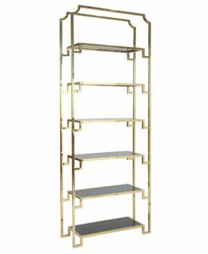 Regał chromowany złoty Hyatt 32/90/230 cm
