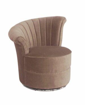 Fotel tapicerowany nowoczesny welurowy Gabi Różowy 69/71/74 cm