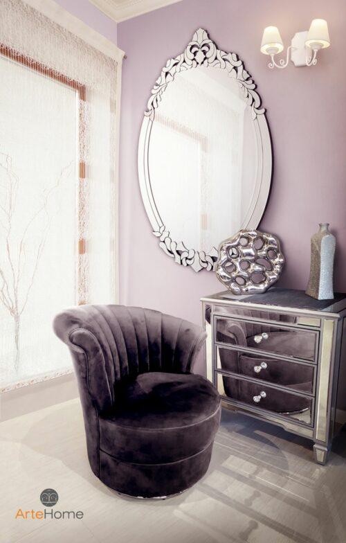 Fotel Gabi Lustro w Mosca aranżacja salonu