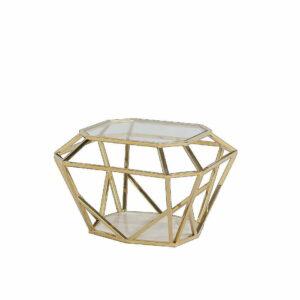 Stolik geometryczny kolor złoty metal Artehome
