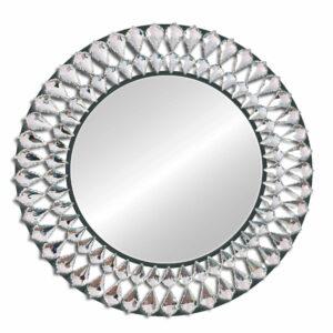 Lustro nowoczesne okrągłe dekoracyjne Marsylia czarne 80 cm