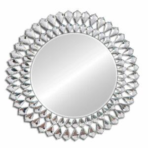 Lustro okrągłe dekoracyjne nowoczesne Marsylia 80 cm