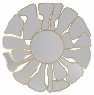 Lustro okrągłe nowoczesne dekoracyjne Grosetto złote 92 cm