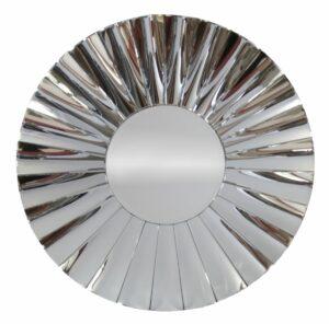 Lustro okrągłe nowoczesne w lustrzanej ramie Osta 90 cm