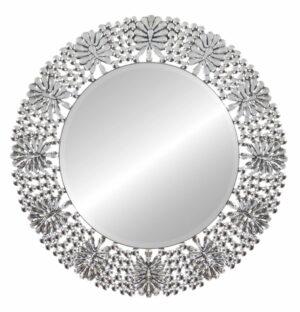 Lustro okrągłe w lustrzanej dekoracyjnej ramie Peola 88 cm