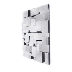 Lustro prostokatne nowoczesne Aga 2 80/120 cm II GATUNEK nowoczesne wielofasetowe lustro dekoracyjne
