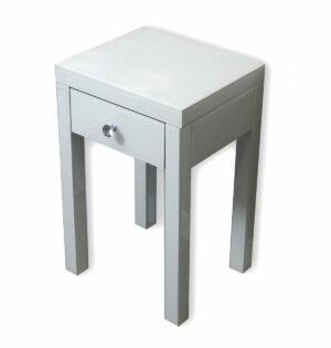 Szafka nocna nowoczesna lustrzana z szufladą Vera biała 40/60/60 cm