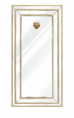 Lustro ozdobne z listwami plecionymi w kolorze złotym Sharon Złote 180/90 cm