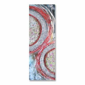 Obraz Uran malowany na aluminium z elementami przestrzennymi dizajnerski