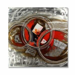 Obraz Torro malowany n aaluminium a elementami przstrzennymi abstrakcyjny pasujący do różnych wnętrz