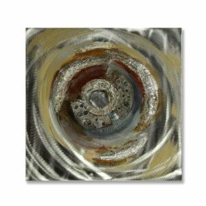 Obraz Twister malowany na aluminium abstrakcyjny