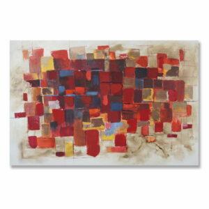 Obraz Zamęt 2 malowany ręcznie nowoczesny abstrakcyjny w barwach czerwieni