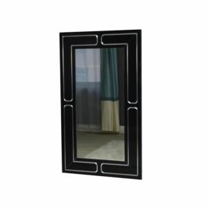 Lustro nowoczesne w czarnej lustrzanej ramie Marina 65/110 cm