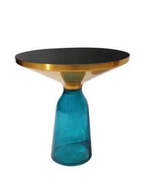 Bottle table niebieski