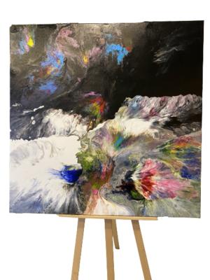 Obraz ręcznie malowany na płótnie akryl abstrakcja - Wodospady