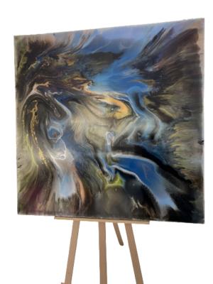 Obraz ręcznie malowany na płótnie żywica abstrakcja - Dzika Rzeka