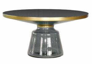Stoliczek kawowy Bottel Table szary 75/37 cm