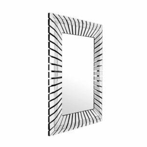 Duże prostokątne lustro wiszące z efektowną lustrzaną ramą - Artehome