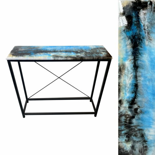 Konsola loft loftowa stolik, ręcznie robiona, unikalny wzór, Artehome