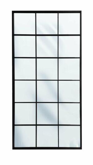 Lustro industrialne Chicago styl loftowy stalowa czarna rama