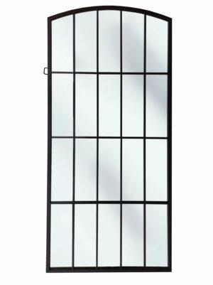 Lustro w czarnej metalowej ramie manhattan loftowe ArteHome