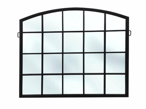 Duże lustro loftowe w czarnej metalowej ramie