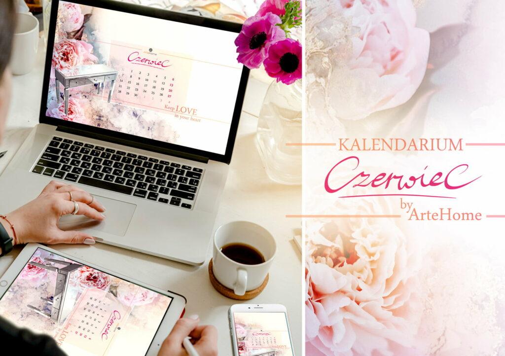 Kalendarz na czerwiec artehome