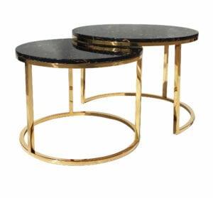 Zestaw stolików Camelio black gold XL