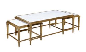 Begles zestaw stolików złotych
