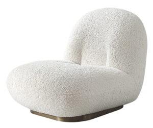 Fotel Teddy biała welna