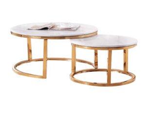 Camelio zestaw stolików w kolorze białym