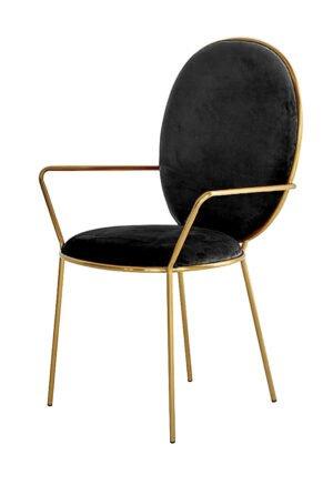 Krzesło Etienne czarne